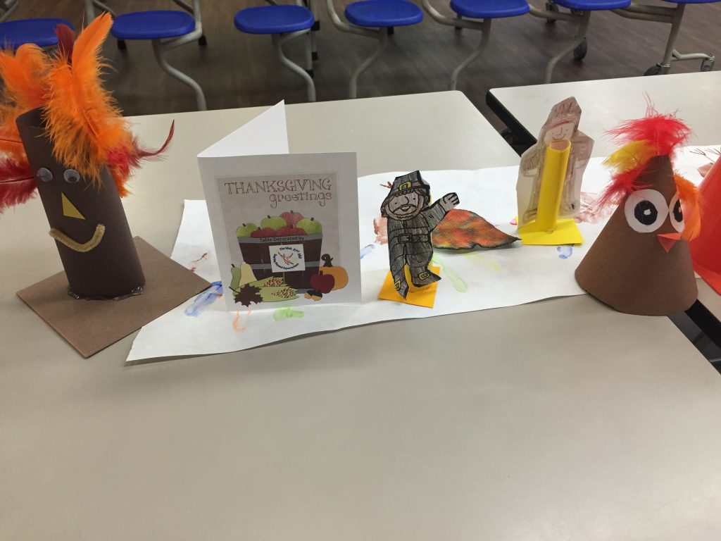 Thanksgiving Arts and Crafts diorama